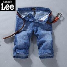 Lgnace LEE jeans summer thin pants five men's leisure pants light straight slim pants Large size