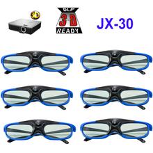 Aktywna migawka 96-144HZ akumulatorowe okulary 3D do projektora BenQ Acer X118H P1502 X1123H H6517ABD H6510BD Optoma JmGo V8 XGIMI tanie tanio nanoq Brak Lornetka Nie-Wciągające Migawki CH-JX30 about 150 degree Okulary Tylko Pakiet 1 None Active shutter glasses