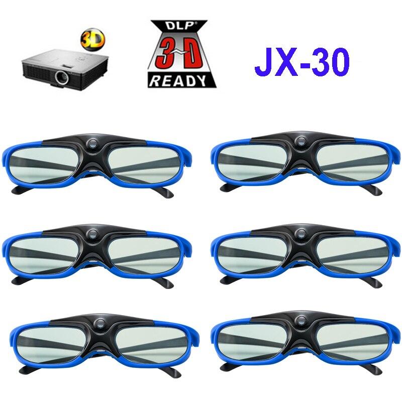 Obturador ativo Óculos Para BenQ 96-144HZ Recarregável 3D Acer X118H P1502 X1123H H6517ABD H6510BD Optoma JmGo V8 XGIMI Projetor
