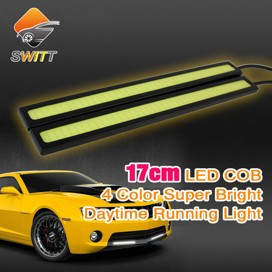 Car styling 2pcs lot DLR 17cm cob Daytime Running light LED driving car light parking lights fog lamp 100% Waterproof