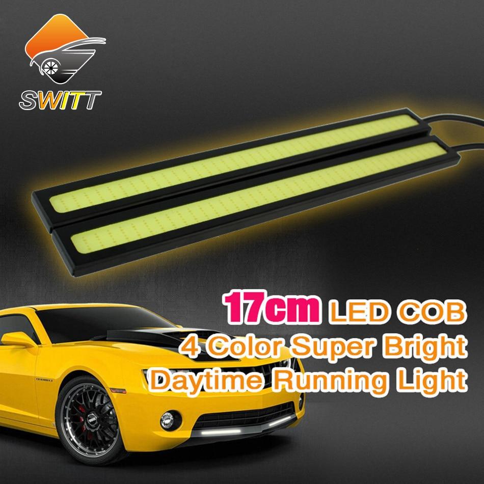 Car styling 2pcs lot DLR 17cm cob Daytime Running light LED driving car light parking lights fog lamp 100% Waterproof