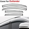 4pcs/lot Window Visor For Mitsubishi Outlander 2014 2015 Rain PC Rain Shield Stickers Covers Car Styling Awnings Shelters