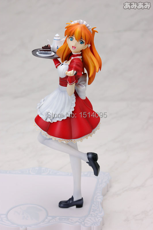 ФОТО 21CM Anime EVA Neon Genesis Evangelion Action Figure Soryu Asuka Langley PVC Figure Model Toy  NG003