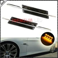 Auto LED side lamp, M-Sport Stijl Zijmarkeringslichten met Amber Led-verlichting Fit BMW E90 E92 E60 E81 E87 F30 1 3 5 Serie X1, etc