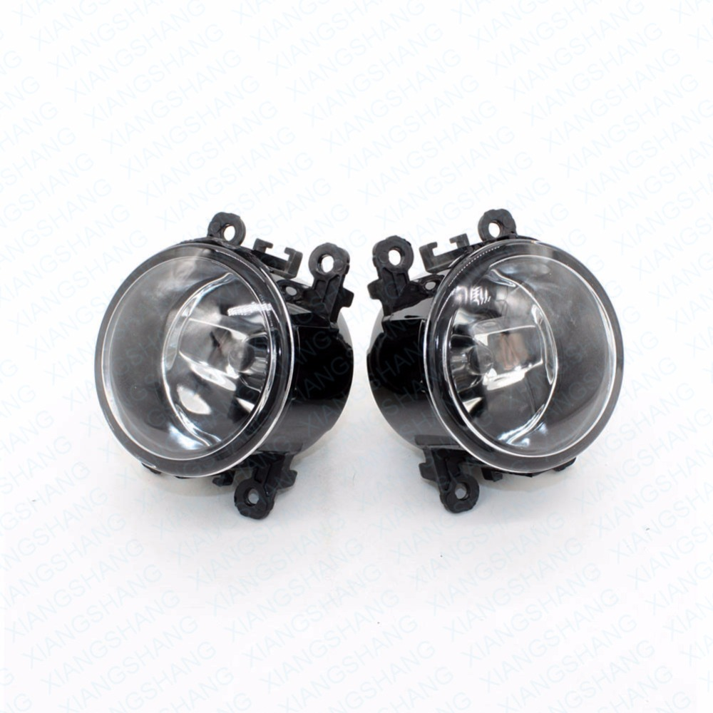 2pcs Auto Right/Left Fog Light Lamp Car Styling H11 Halogen Light 12V 55W Bulb Assembly For Renault THALIA II LU1 LU2 Saloon front fog lights for citroen c5 break estate re 04 15 auto right left lamp car styling h11 halogen light 12v 55w bulb assembly