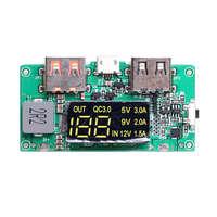Impulso 5 v alta passagem qc3.0 carregamento rápido placa da imprensa com display de energia digital placa de circuito de energia móvel