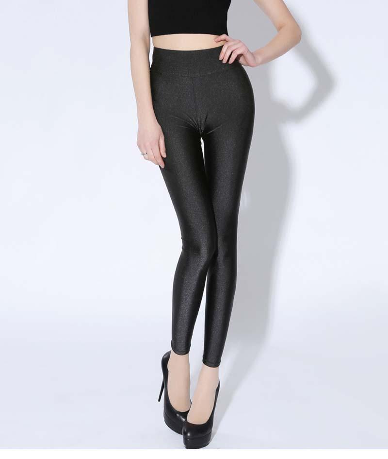 19f56c857fc97e ZB D009 1 High elastic shiny women leggings plus size ladies work ...