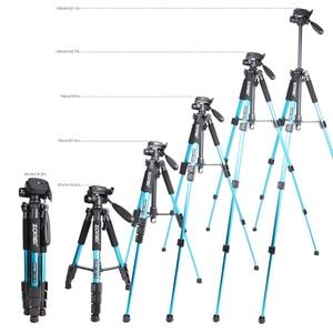 Image 5 - Zomei bleu Q111 trépied léger professionnel Portable support dappareil photo de voyage avec tête panoramique sac de transport pour appareil photo numérique reflex numérique