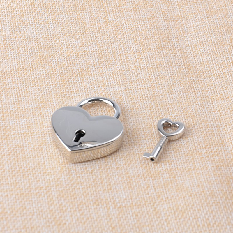 39 x 30 mm Metal Heart lock & Key Silver Purse lock Nickel box lock  20sets/lot сопутствующие товары gehwol hammerzehen polster links 0 1 шт левая