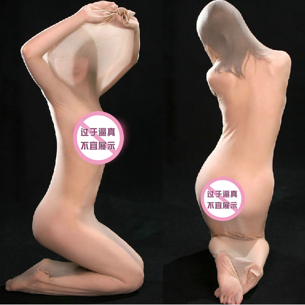 2e37e679369 Ultra-thin transparent full-body stockings men s women s tight-fitting  coveralls socks sexy perspective tights sleeping bag