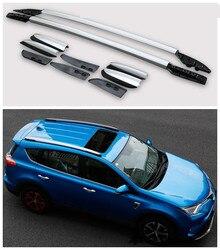 Dla Toyota RAV4 2013 2014 2015 bagażniki dachowe bagażnik dachowy wysokiej jakości Aluminium akcesoria do modyfikacji