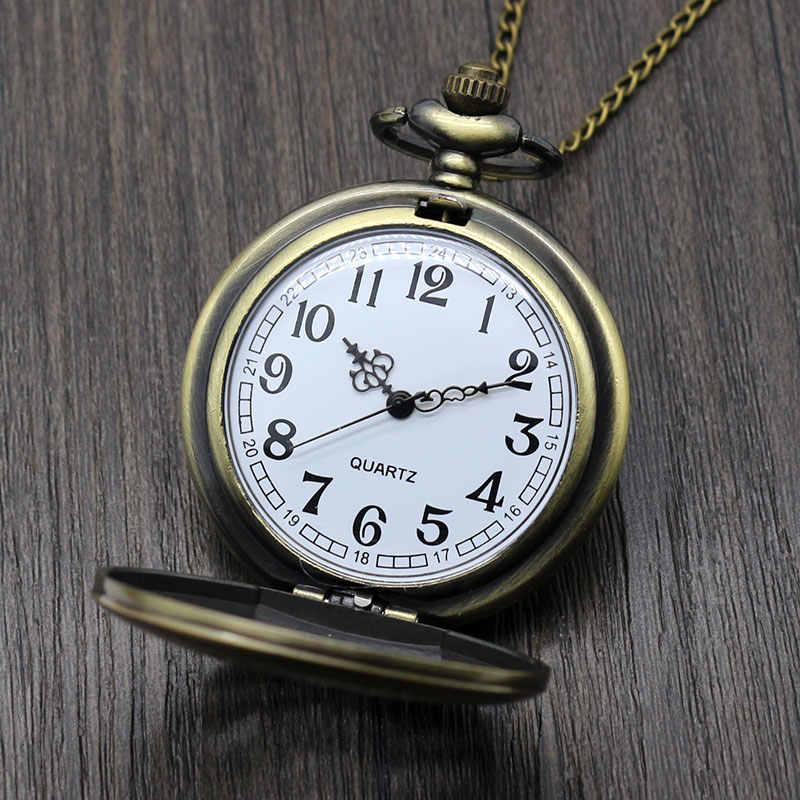 Старинные бронзовые Алиса в чудо-времени тема карманные часы Высокое качество Кролик Ключ Pock дизайн ожерелье часы