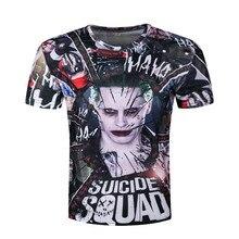Joker 3d T-shirt Men Suicide Squad T shirts Hip Hop Funny Tops Harley Quinn Short Sleeve Camisetas Fashion Novelty