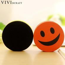 Vividcraft 1pc Kawaii Smile Absorbable Magnetic Whiteboard Eraser Office Supplies Magnetic Office Child Drawing Board Erasers