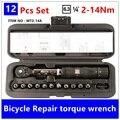 MXITA 1/4 inch 1-25NM Click Llave Ajustable conjunto kit de herramientas de Reparación de Bicicletas de reparación de bicicletas llave de mano conjunto de herramientas