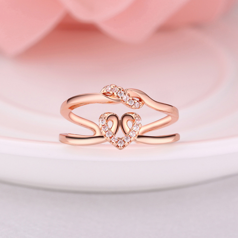 SWATER Fashion Women Engagement Rings Rose Gold/White Gold Color ...
