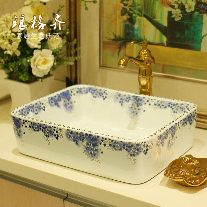 Цзиндэчжэнь керамика бассейна этап промывка бассейна фиолетовый квадратный