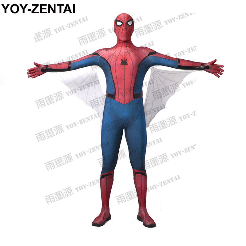 YOY ZENTAI High Quality Homecoming Spiderman Costume Spiderman Homecoming Costume Tom Holland Spiderman font b Suit