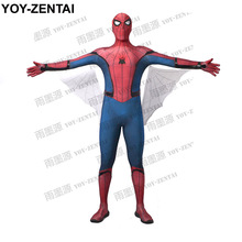 YOY-ZENTAI High Quality Homecoming Spiderman Costume Spiderman Homecoming Costume Tom Holland Spiderman Suit With Wings