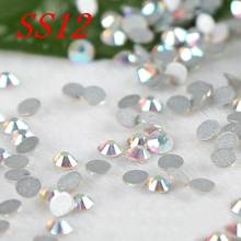 SS12 1440pcs crystal AB  hight quality rhinestones for nails strass flatback non hotfix stones moile beauty