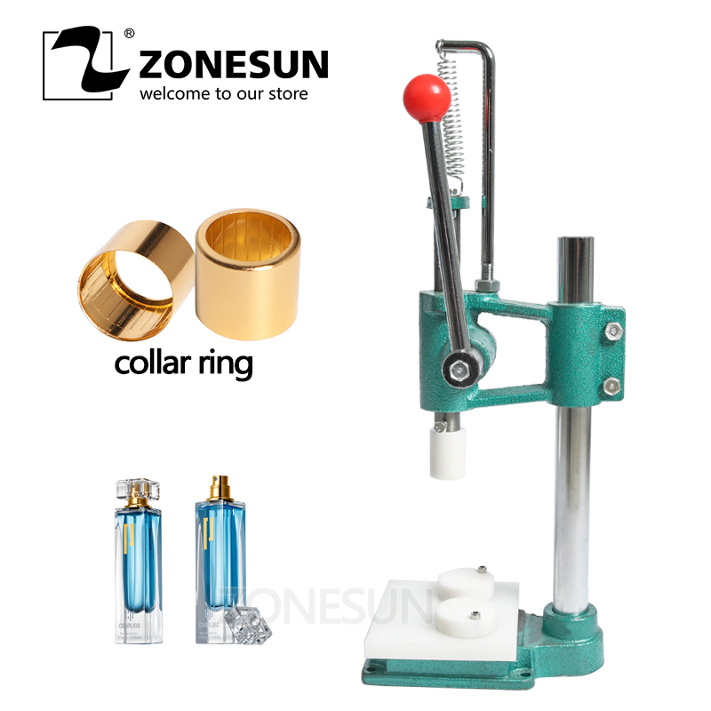 ZONESUN Perfume Glass Bottle Capping Machine Perfume Crimping Machine Perfume Collar Ring Pressing Machine