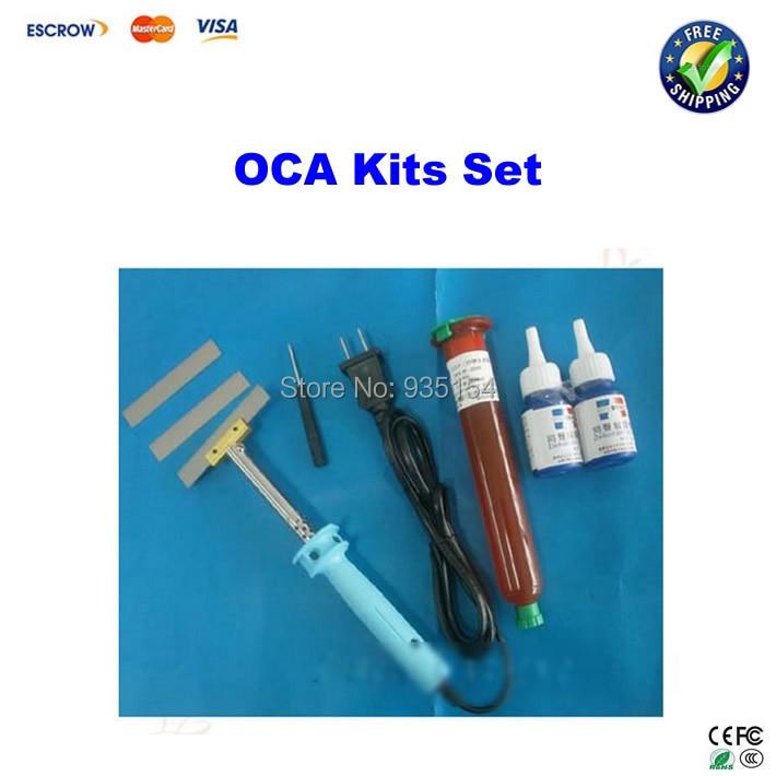 UV Glue LOCA Liquid OCA Optical Clear Adhesive+Glue Remover dispergator+ soldering iron for LCD screen Refurbishment цена и фото