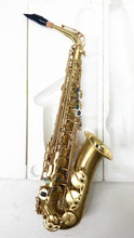 MARGEWATE Brand Alto Saxophone Eb Tone Musical Instrument Brushed Gold E Flat Sax With Case Mouthpiece