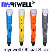 Original Myriwell 3D Pen MR3DP-001A Best Children DIY Gift Graffiti Pen 3D Stereo Drawing Pen Compatible 1.75mm ABS/PLA Filament