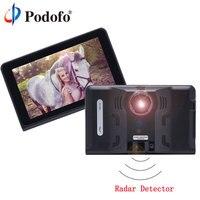 Podofo Capacitive Car DVR Camera Video Recorder 7 Android Touch Radar Detector GPS Navigation WIFI DashCam
