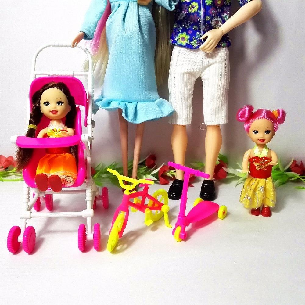 Igračke Obitelj 5 Ljudi Lutke Odijela 1 Mama / 1 Tata / 2 Mala Kelly - Lutke i pribor - Foto 2