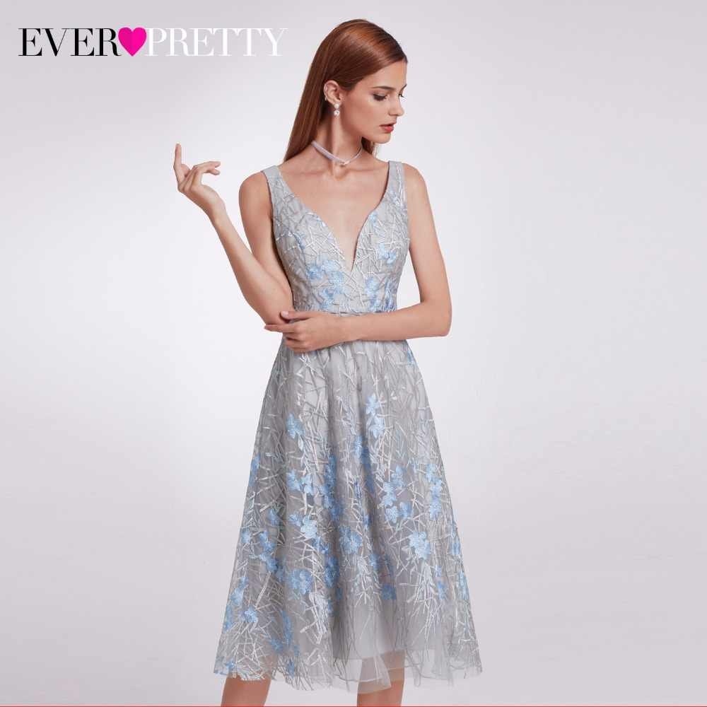 5af75b3f9bc7 ... 2019 New Fashion Ever Pretty EP05935 Unique Lace Prom Party Dresses Knee -Length Elegant Double ...