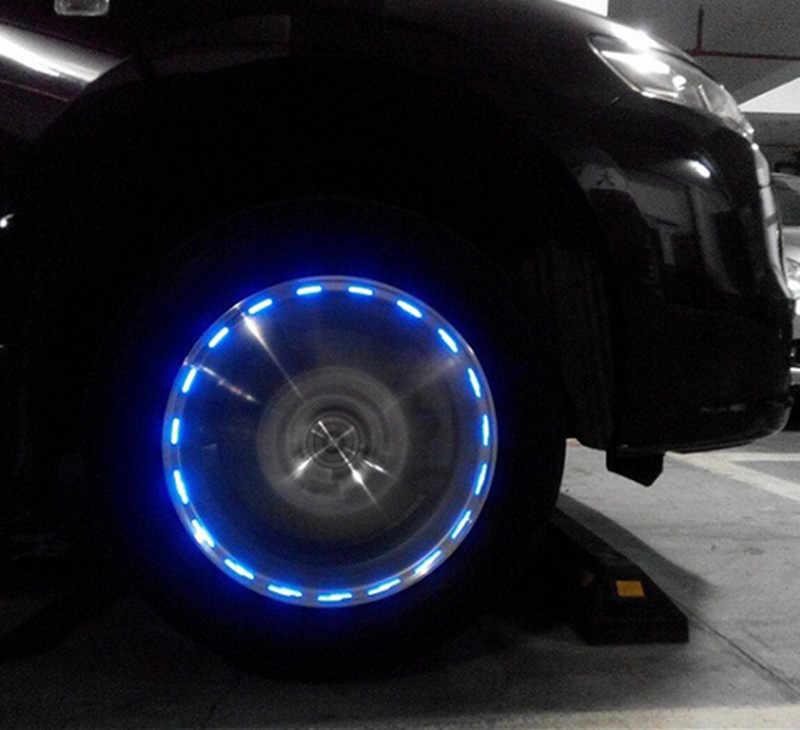 รถพลังงานแสงอาทิตย์ Decor โคมไฟล้อไฟ LED แฟลชยางสำหรับ BMW E46 E90 E39 F30 f10 E36 E60 X5 E53 F20 E34
