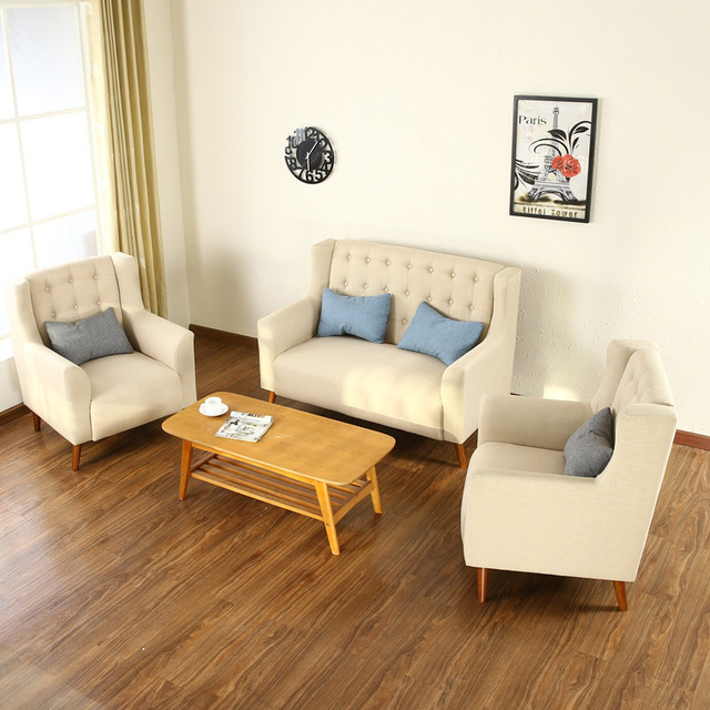 Office Sofa Commercial Furniture Office Furniture Office Hotel Coffee Shop  Sofa Fabric Three Pieces Sofa Sets