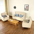 Sofá Do escritório Mobiliário de Escritório Mobiliário de escritório Comercial Do Hotel café sofá tecido de três peças conjuntos de sofá de moda sólida 2016