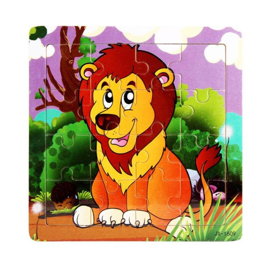 Lion Pattern Wooden Jigsaw Toys For chils