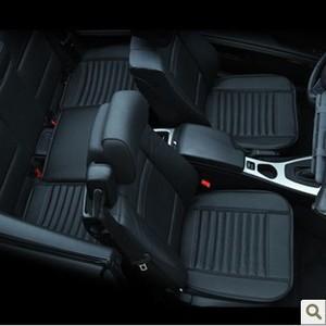 Image 3 - Capa de assento de carro de luxo couro universal preto tampas de assento de carro todo cercado almofada de assento de carro