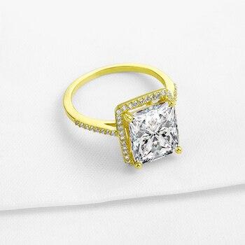 Diamante A Taglio Ovale | QYI Tipo Di Lusso 14 K Solido Oro Giallo Anelli Anello Di Fidanzamento Dei Monili Delle Donne Ovale Cut Sona Diamante Simulato Per La Cerimonia Nuziale Gioielli