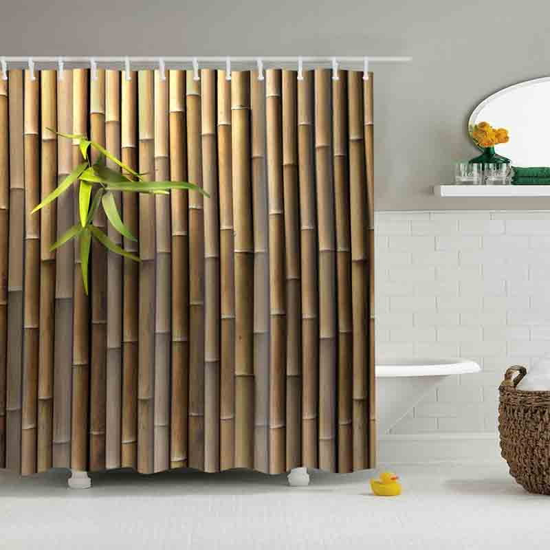 Hot Selling new bamboo Shower Curtains Custom Design Creative Shower ...