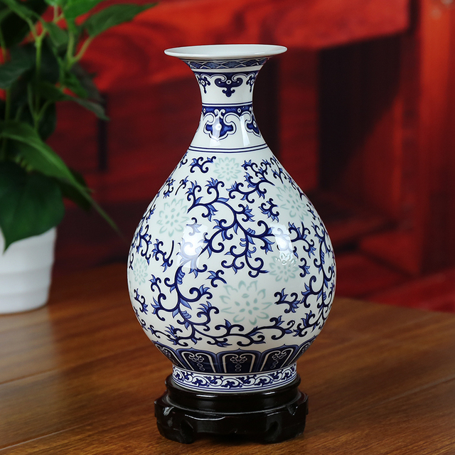 Ceramics Vase Modern Home Decoration Delicate Blue And White