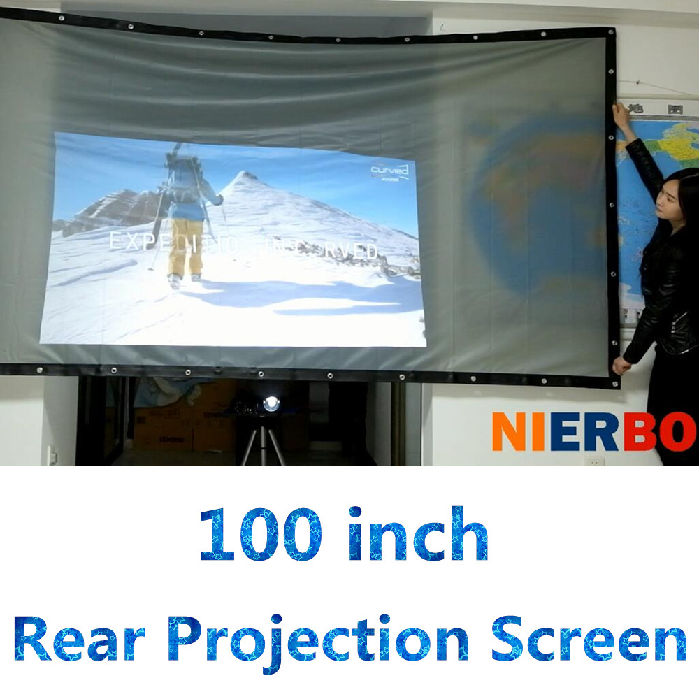 Rear Projector Screen 100 16:9 4:3 support customize Portable HD Screen Portable Front Projection fast free shipping 100 4 3 tripod portable projection screen hd floor stand bracket projector screen matt white factory supply