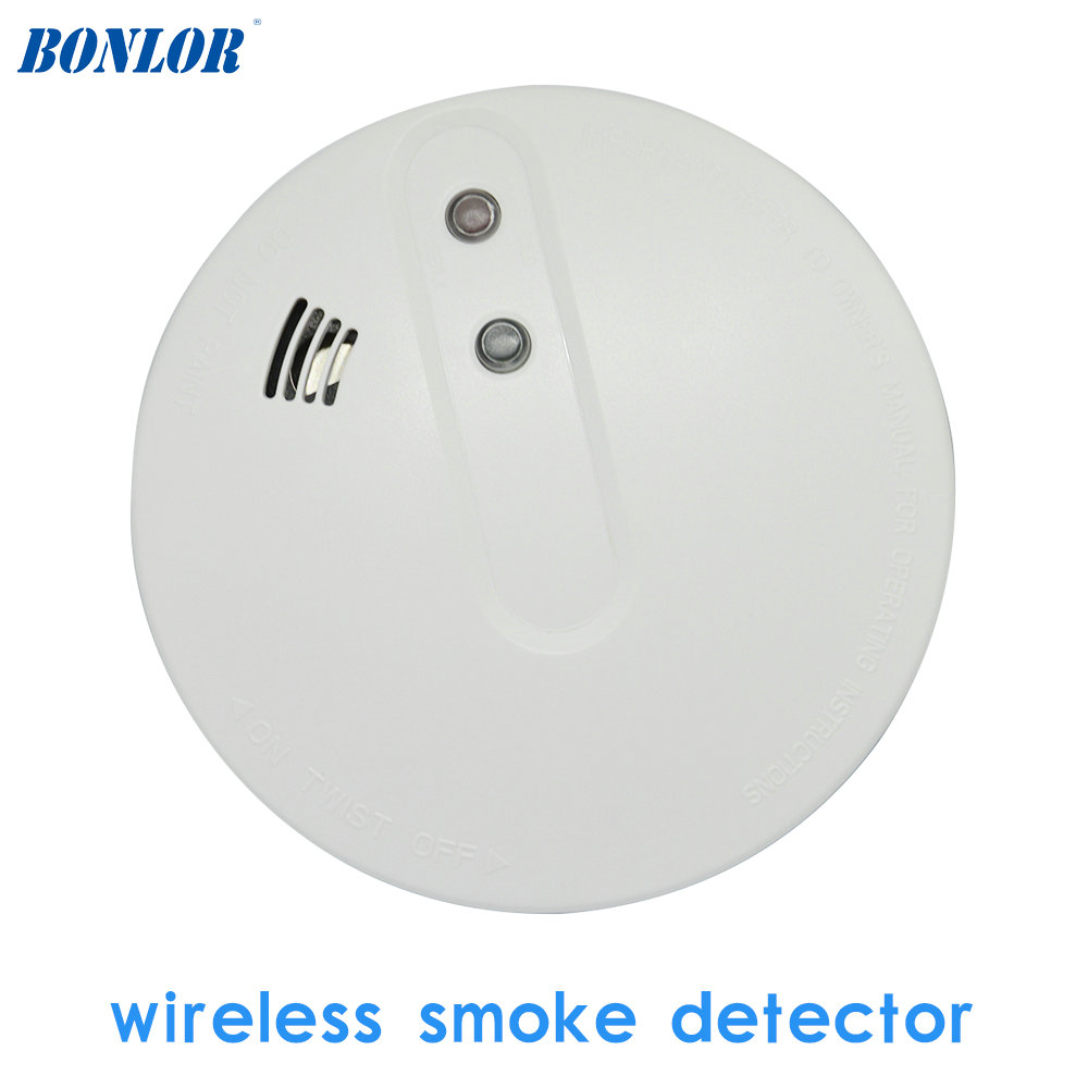 GSM Alarm System Accessories Wireless Smoke Sensor Home Security Alarm Fire Control Detector 433MHz NO Battery For Free Shipping
