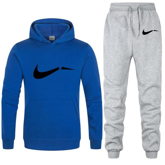 New 2019 Brand Tracksuit men thermal underwear Men Sportswear Sets Fleece Thick hoodie+Pants Sporting Suit Malechandal hombre 5