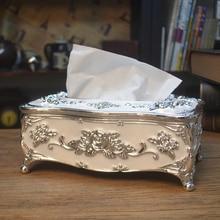 Европейская акриловая коробка для салфеток золотого/серебристого/белого цвета, диспенсер для салфеток, коробка для салфеток для украшения дома ZJH015