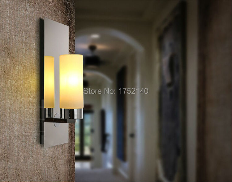 Chrome marrone moderno lampade applique da parete a led illumina