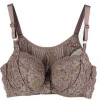 Alta calidad de talla grande 110DEF Thin Big cups chaleco delantero cierre no trace lace Sexy bras ropa interior de mujer
