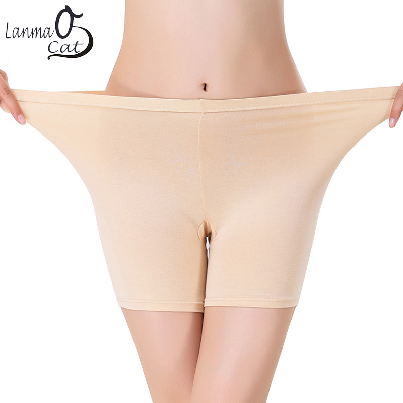 Hot Sale Safety Short Pants Under Skirts For Women,  Comfortable Lightweight Breathable Bamboo Panties In Size 2XL 4XL