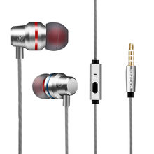 Metal Stereo Headphone Bass Earphone Sport Headset Hands Free Earbuds With Mic For Mobile Phone HiFi Headphone airdots #0(China)