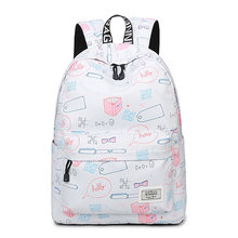 Backpack 2018 Waterproof Printing Back Pack Women Fashion Casual Canvas Knapsack Large Capacity Schoolbags Laptop Travel