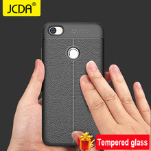 Фотография JCDA case For Xiaomi Redmi note 5a case silicone Luxury Shockproof Soft TPU Leather Case xiaomi redmi note 5a prime case Cover