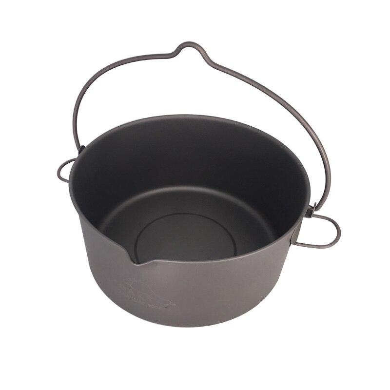 TOAKS Outdoor Camping Cookware Picnic Hang Pot Ultralight Titanium Pot 1600ml or 2000ml5